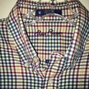 Alan Flusser gingham checkered multicolored cotton